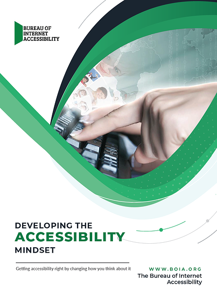 eBook cover: Developing the Accessibility Mindset