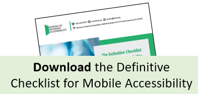 Download the Mobile Accessibility Checklist