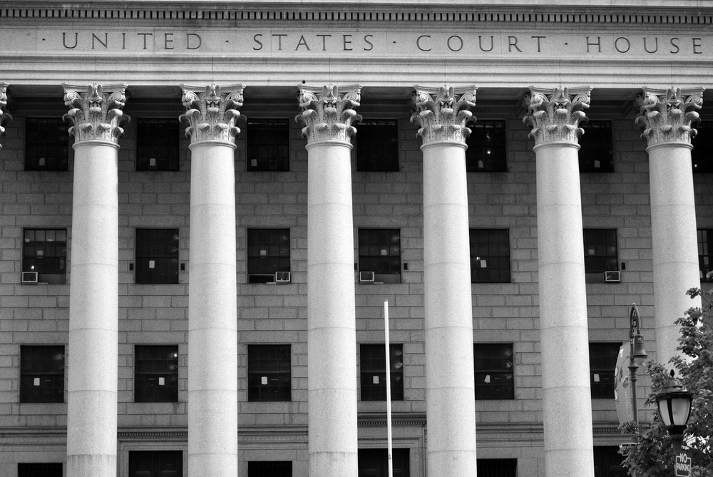 A United States Court House in New York City