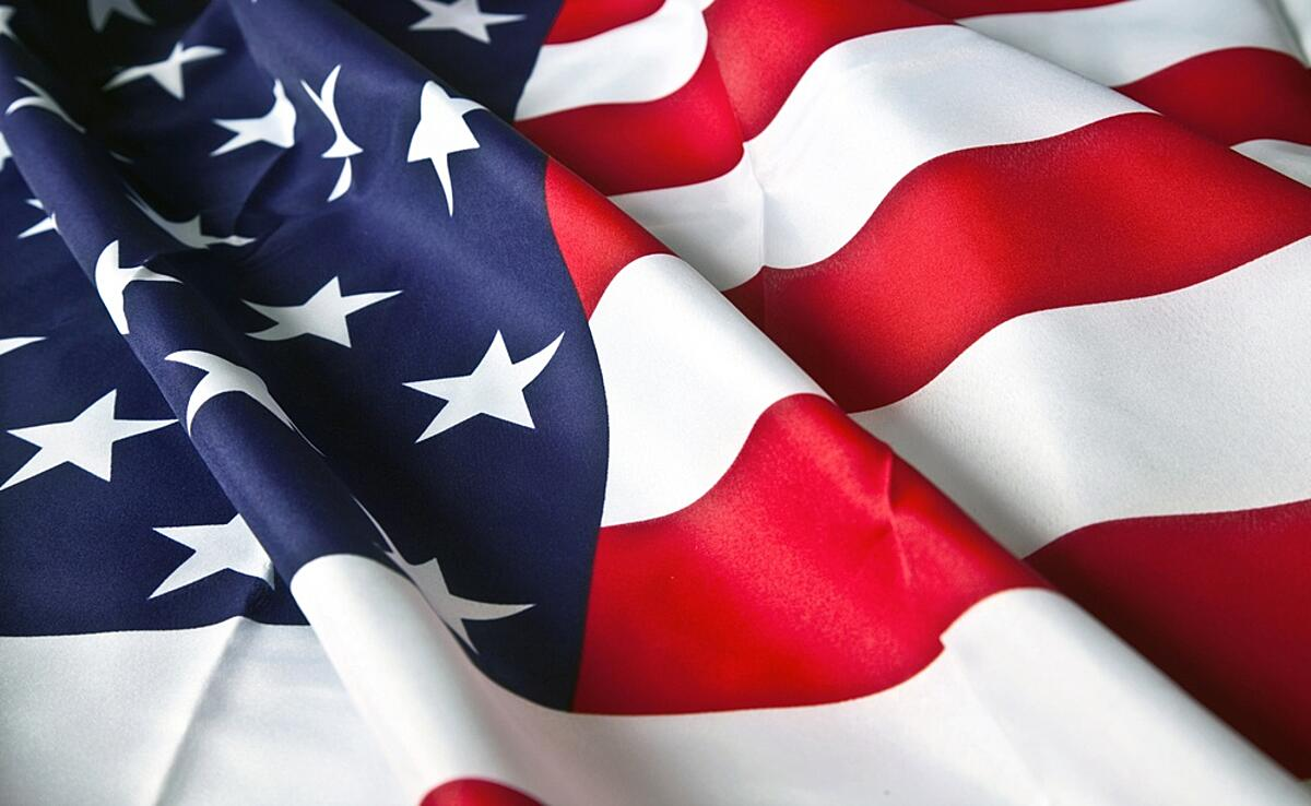 American flag with wavy texture