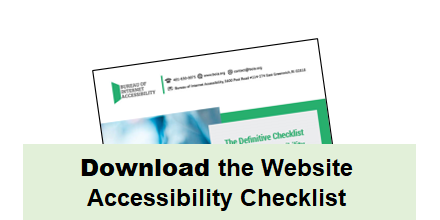 Download the Website Accessibility Checklist